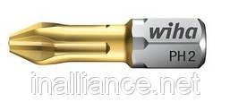 Биты Wiha TiN Torsion PH 2, 25 мм - вязко-твёрдое качество Torsion 04655