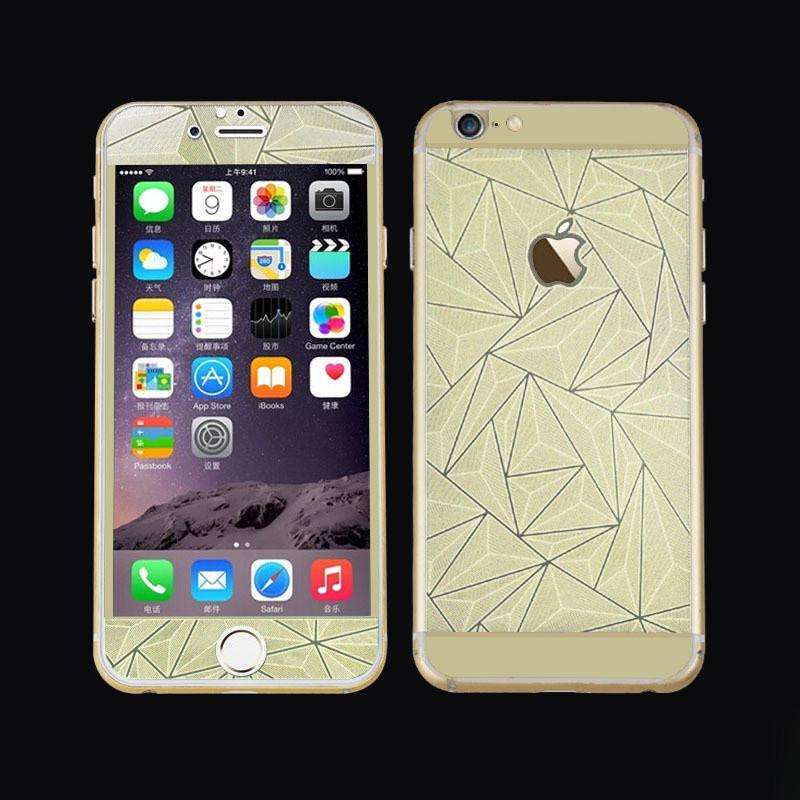 Защитное стекло на обе стороны 3D Prizma iPhone 6 Золото