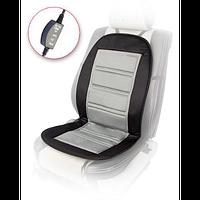 Накидка на сидіння з підігрівом Vitol H 96024 GY/BK