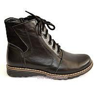 Женские кожаные зимние ботинки на шнуровке., фото 1