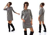 Прямокройное платье мини из шерсти