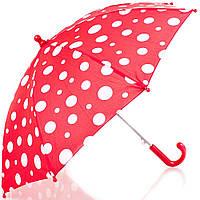 Зонт-трость облегченный детский полуавтомат DOPPLER (ДОППЛЕР), коллекция DERBY (ДЭРБИ) DOP72780D-red
