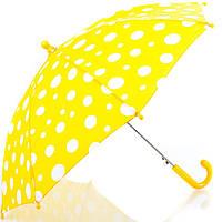 Зонт-трость облегченный детский полуавтомат DOPPLER (ДОППЛЕР), коллекция DERBY (ДЭРБИ) DOP72780D-yellow