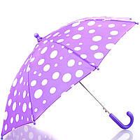 Зонт-трость облегченный детский полуавтомат DOPPLER (ДОППЛЕР), коллекция DERBY (ДЭРБИ) DOP72780D-violet