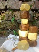 Развивающие кубики асимметрия из разных видов дерева
