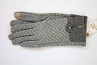 Женские серые перчатки сенсорные, фото 1