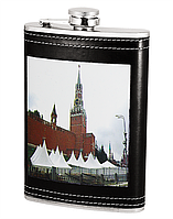 ФЛЯГА 8B9-9-(8OZ), фляга подарочная, фляга с рисунком здания, фляга карманная, фляга для алкогольных напитков