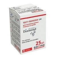 Тест-полоски GAMMA DM для глюкометра GAMMA DIAMOND 25 шт.