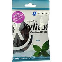 Леденцы для ухода за зубами Miradent Xylitol Drops, 26шт, мята