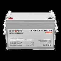 Гелевая аккумуляторная батарея LogicPower 12V 100Ah, фото 1