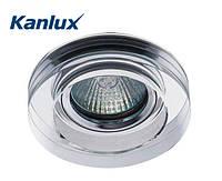 Встраиваемый точечный светильник Kanlux Morta 1хMR16 Ø90х20, белое стекло, металл