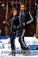 Теплый спортивный костюм мужской и женский Адидас
