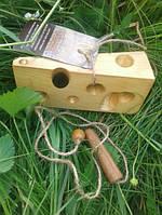 Развивающая шнуровка Сыр из натуральных материалов