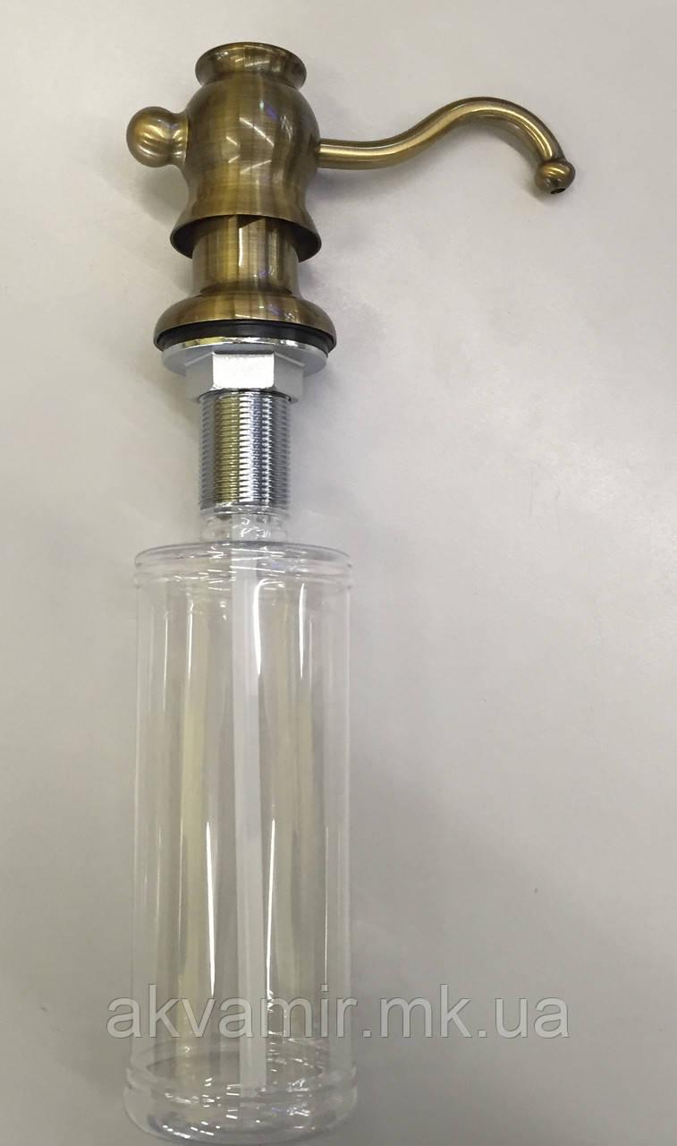 Дозатор для миючого Fabiano FAS-D30 Antique Brass (антична латунь)