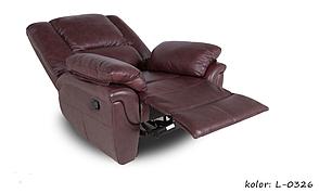 Кожаное кресло реклайнер ALABAMA, 0326 (98 см), фото 3