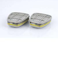 3M™ 6057 - фильтр для масок и полумасок, от органических и неорганических паров, кислых газов, ABE1, 1 шт.
