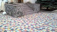 Мощение дорожек, укладка тротуарной плитки .Облицовка Природным Камнем