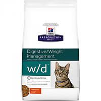 Корм для кошек (Хилс) Hill's Hills Prescription Diet Feline w/d 5 кг - предупреждение ожирения у взрослых коше