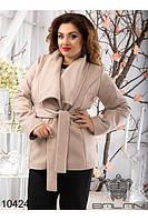 Пальто кашемировое женское на запах(48-52), доставка по Украине