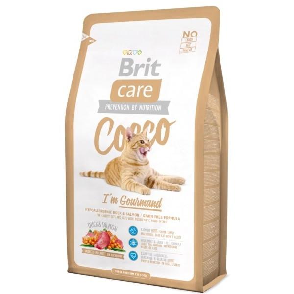 Корм для кошек (Бріт Кее) BRIT CARE Cat Adult Gourmand Cocco 7 кг - для взрослых кошек с чуствительным пищевар