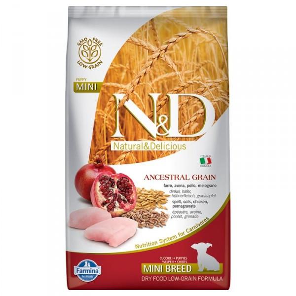 Корм для собак FARMINA N&D LOW GRAIN CHICKEN POMEGRANATE PUPPY MINI 2,5 кг