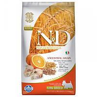 Корм для собак FARMINA N&D LOW GRAIN CODFISH ORANGE ADULT MINI 7 кг