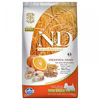 Корм для собак FARMINA N&D LOW GRAIN CODFISH ORANGE ADULT MINI 2,5 кг