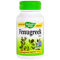 Пажитник, Fenugreek,  Nature's Way, 610 мг, 100 капсул