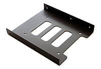 Фрейм-переходник Maiwo K4 Black, для 2.5' в 3.5' отсек, алюминиевый корпус