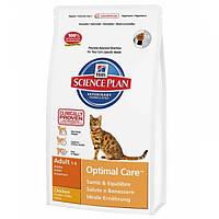 Корм для кошек (Хилс) Hill's Hills Science Plan Feline Adult Chicken 10 кг - для взрослых кошек с курицей