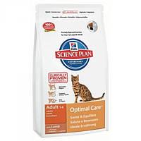 Корм для кошек (Хилс) Hill's Hills Science Plan Feline Adult Lamb 10 кг - для взрослых кошек с ягнятиной