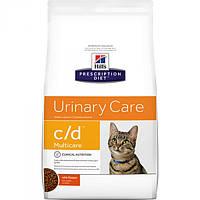 Корм для кошек (Хилс) Hill's Hills Prescription Diet Feline c/d 5 кг - заболевания мочевыводящих путей
