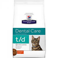 Корм для кошек (Хилс) Hill's Hills Prescription Diet Feline t/d 5кг - уход за ротовой полостью