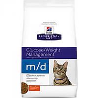 Корм для кошек (Хилс) Hill's Hills Prescription Diet Feline m/d 5 кг - для кошек с диабетом и ожирением