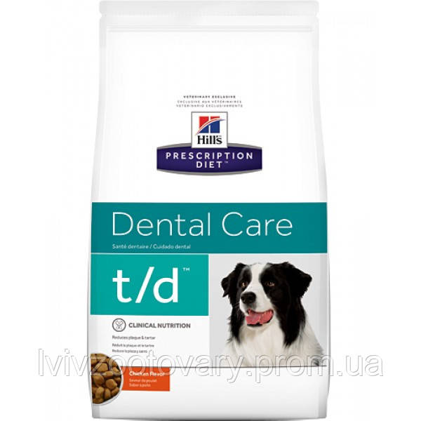 Корм для собак Hill's Hills Prescription Diet Canine T/D 10 кг
