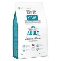 Корм для собак BRIT CARE Grain Free Adult Salmon Potato 12 кг для середніх порід з лососем та картоплею