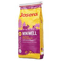Корм для собак (Джозера) Josera Miniwell 15 кг - для взрослых собак мелких пород с курицей и рисом