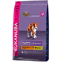 Корм для собак EUKANUBA Puppy & Junior Medium Breed 18 кг для щенков и юниоров средних пород