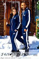 Теплый спортивный костюм мужской и женский Pumа темно-синий