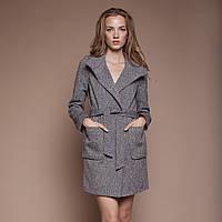 Пальто женское демисезонное с накладными карманами П-29