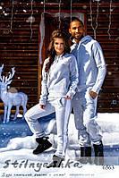 Теплый спортивный костюм мужской и женский Pumа серый