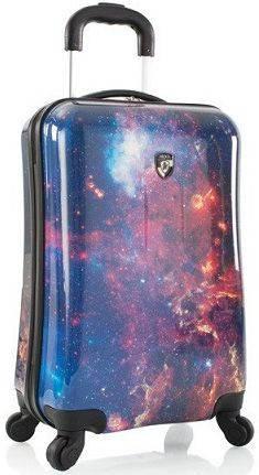 Небольшой пластиковый 4-колесный чемодан 35 л. Heys Cosmic Outer Space (S) 923060, разноцветный