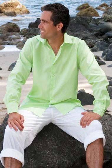 Льняная мужская рубашка!
