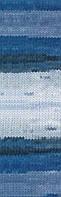 Полушерстяная пряжа (100г/240м, 49%-шерсть, 51%-акрил) Alize Lanagold Batik 1600