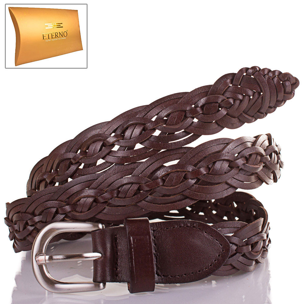 Ремень плетеный женский кожаный кожаная основа для ремня