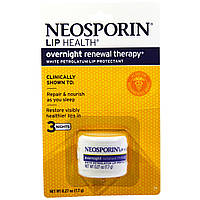 SALE, Neosporin, Overnight Renewal Therapy, White Petrolatum Lip Protectant, 0.27 oz (7.7 g)