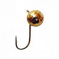 Мормышка вольфрам LJ Шар с петлей золотая 8 мм