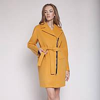 Пальто женское демисезонное на молнии с поясом в 4х цветах Рокси