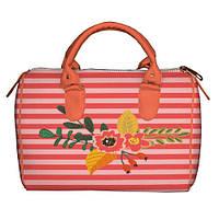 Нежная сумка бочонок с принтом Цветы