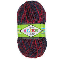 Моток пряжи для вязания ( 20% шерсть, 70% акрил, 10% полиамид) Alize Funny 1259